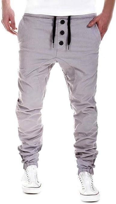 XGBDTJ Pantalones De Mezcla De Algodón Casual De para Pantalones ...