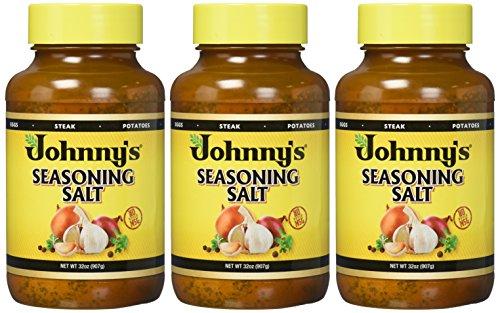 Johnny's Seasoning Salt, 32-Ounce Bottles (Pack of 3) by Johnny's (Image #1)