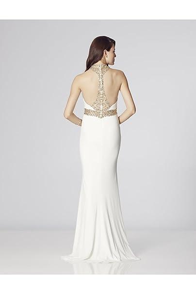 Tiffanys Illusion Prom Ivory Suki Jewelled Evening Dress UK 8 (US 4): Amazon.co.uk: Clothing