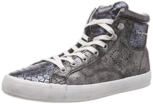Clinton Baskets Snake Silber Femme Jeans 934silver Argent Pepe Metallic Hautes qfU1wT