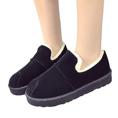 TianWlio Boots Stiefel Schuhe Stiefeletten Frauen Herbst Winter Solide  Weibliche Schneestiefel Student Brot Schuhe Winter Warme 790b667d61