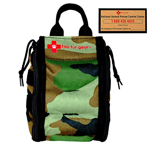 Pet First Aid Kit   Veterinarian Approved   Sturdy For Hanging   Dog First Aid Kit Supplies While Home  Traveling  Camping  Hiking   Car By Fab Fur Gear
