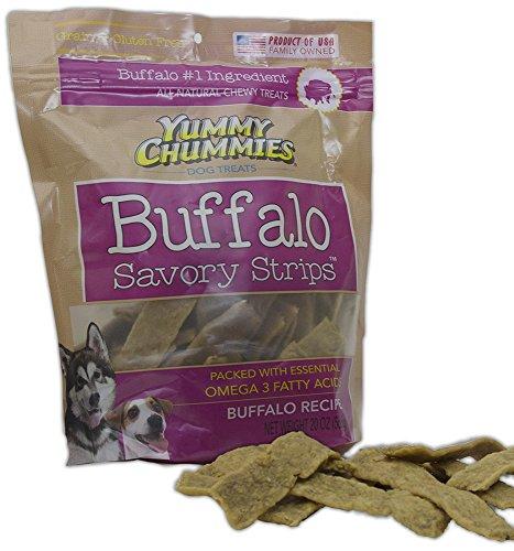 Yummy Chummies ALL NATURAL Buffalo Savory Strips Grain & Gluten Free Made in the USA