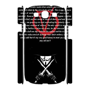 C-EUR Diy case V for Vendetta 3 customized Hard Plastic 3D Case For Samsung Galaxy S3 I9300 [Pattern-4]
