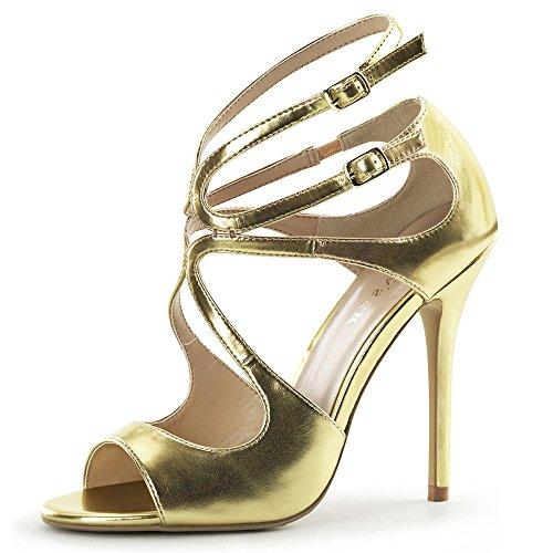 Heels-Perfect - Sandalias de vestir de Material Sintético para mujer Gold (Gold)
