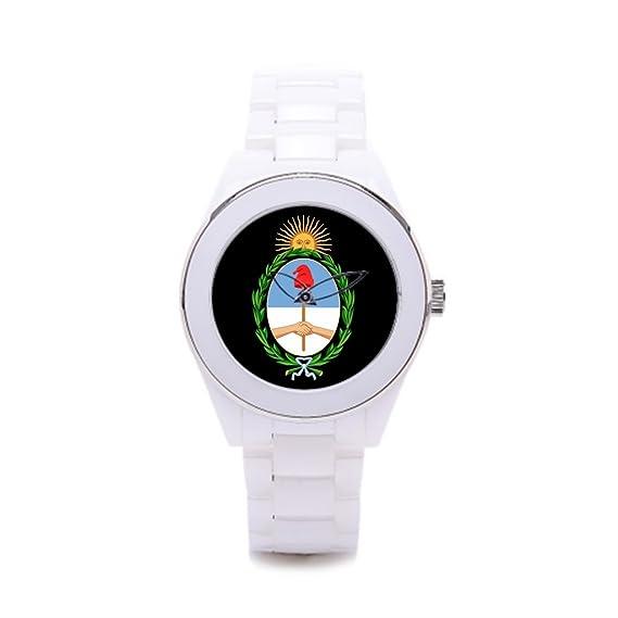 Queensland Ladies cerámica relojes reloj de la tienda de Navidad Argentina Argentina Custom Writwatch: Amazon.es: Relojes
