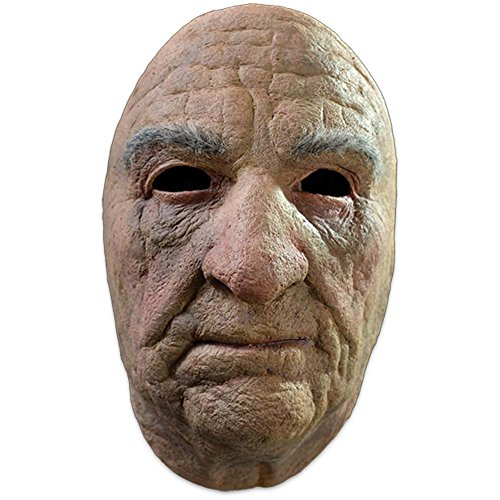[Trick or Treat Studios Men's Old Man Face Mask, Multi, One Size] (Old Man Halloween Mask)