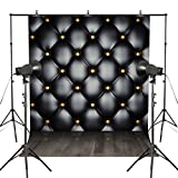 Kooer 5X7ft The head of a bed Black Advanced Bedside Vinyl Fabric Photography Backdrops