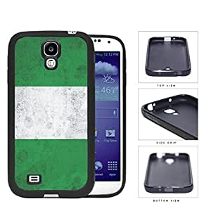 Nigerian Flag Grunge Surface Rubber Silicone TPU Cell Phone Case Samsung Galaxy S4 SIV I9500