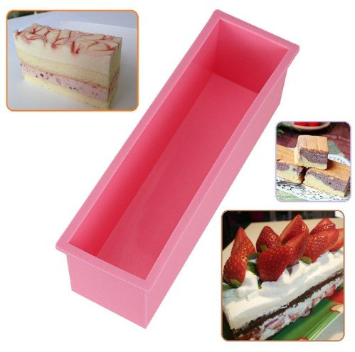 L Rectangle Cake Silicone Mold for Making Pastry Toast Baking Bread Loaf 1.2L High Temperature Resistant Non-toxic