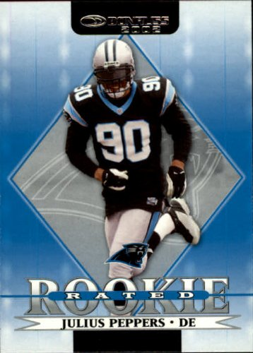 2002 Donruss Football Rookie Card #268 Julius Peppers from Donruss Football Rookie Card