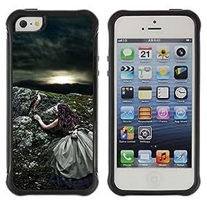 Suave TPU GEL Carcasa Funda Silicona Blando Estuche Caso de protección (para) Apple Iphone 5 / 5S / CECELL Phone case / / Nature Sun Bird Storm Summer /