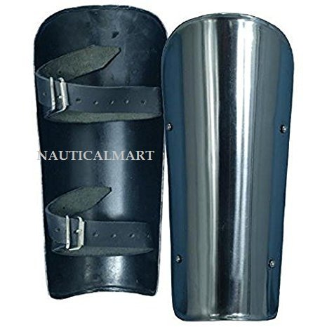NAUTICALMART Armor Ready for Battle Steel Arm Bracers One Size Fit All - Silver Armour by NAUTICALMART