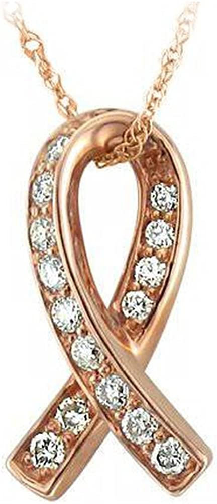 Sales of SALE items from new works IGI Certified 10K Gold Ribbon Diamond Cara 1 5 Excellence Pendant Necklace