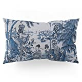 Society6 17th Century Delftware Chinoiserie Pillow Sham King (20'' x 36'') Set of 2