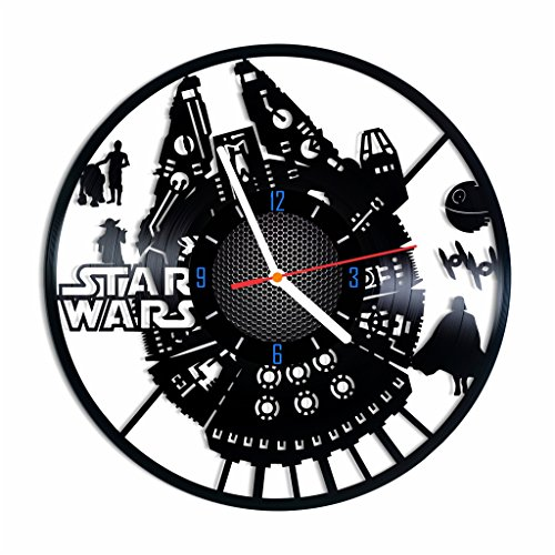 Star Wars vinyl record wall clock, Spaceship home decor, best gift idea