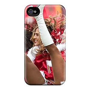 Durable Case For The Iphone 4/4s- Eco-friendly Retail Packaging(kansas City Chiefs Cheerleaders)