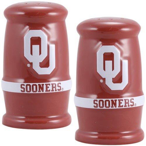 [Oklahoma Sooners Team Logo Salt & Pepper Shakers] (Oklahoma Sooners Salt)