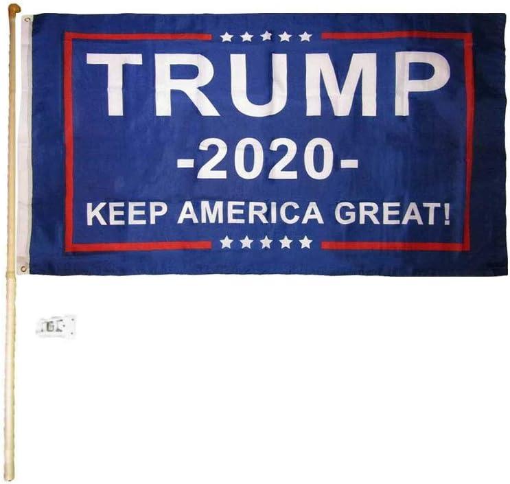 Trump 2020 plus BS 3x5-drapeau Made in the USA-Haute Qualité Nylon!