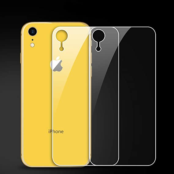 sale retailer 4e0a5 b234a QRemix (2 Pack) Back Screen Protector for iPhone XR, Rear Tempered Glass  Film Touch Screen Protection Case for Apple iPhone XR (Only Back,2 ...