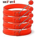 """Sunsella 3"""" Silicone Egg & Pancake Rings - 4 Pack"""