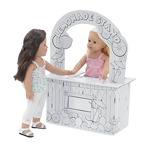 ries | Incredible Doll Play Lemonade Stand, Ready to Paint and Decorate | Fits American Girl Dolls ()