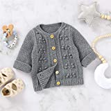 Infant Toddler Baby Cardigan Sweater Boy Girl Fall