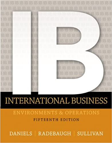 International Business John Daniels Pdf