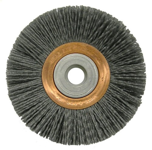 Wire Wheel Wire Brush, Arbor, 4'', 5/8'' W by Weiler