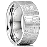 Three Keys Jewelry 8mm Stainless Steel Wedding Ring Engraved CTR Choose The Right Fashion Wedding Band Engagement Ring Size 15