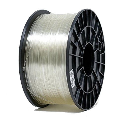 ShaperBee 7211 PLA 3D Printing Filament 1.75 mm, 1 kg Spool for 3D Printers, Dimensional Accuracy +/-0.03 mm, PLA, Clear by ShaperBee