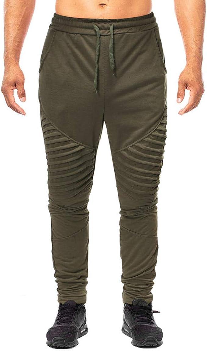 FELZ Pantalones Largos para Hombre Moda Pantalones Slim Fit ...
