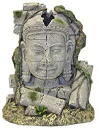 Exotic Environments Ancient Stone Head Ruin Aquarium Ornament