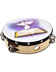 Wooden Tambourine - Double Row Jingles for Adults and Kids