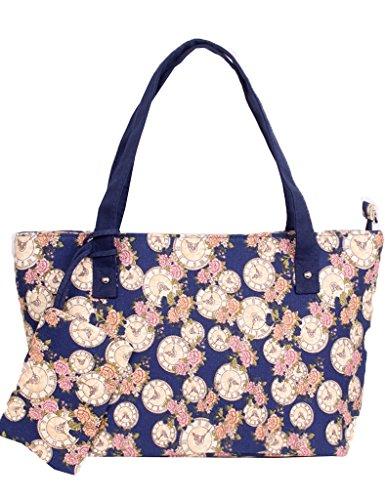 ASBridal Canvas Totes Handbags Print Shoulder Bags with Wallet 12 (Cheap Designer Bags)