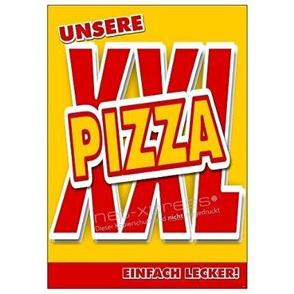Cartel de Publicidad para XXL-PIZZA Din A1, Placa Cartel ...