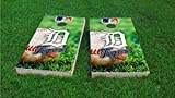 Detroit Field Cornhole Set, 2x4, 1x4 Frame (25% Lighter), Wood, Hand Painted