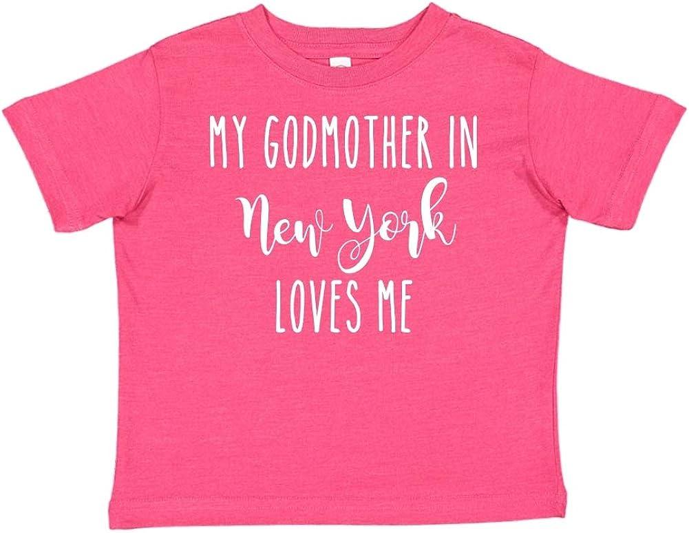 My Godmother in New York Loves Me Toddler//Kids Short Sleeve T-Shirt