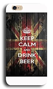 DaojieTM Generic Iphone 6 Case,keep Calm and Drink Beer Custom Design Pc+abs Hard Case Back Cover for Apple Iphone 6 4.7inch White