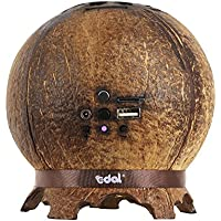 Edal Bluetooth Coconut Shell Stereo Speaker w/ Mic, 2-Speaker, Hands-free suit for outdoors, beach,travel.