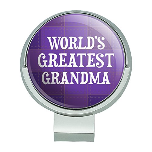 World's Greatest Grandma Grandmother Purple Golf Hat Clip With Magnetic Ball Marker (Graphic Greatest Worlds Funny)