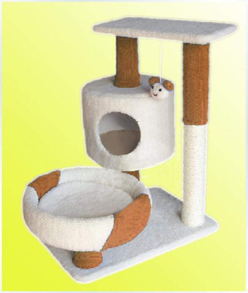 Brown Weiwei Cat Climb Frame cat Tree cat Litter cat Grab Pillar 60cm 50cm  150cm