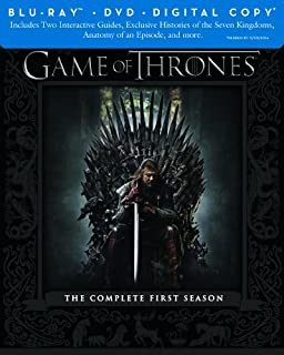 Game of Thrones: The Complete First Season [Blu-ray + DVD + Digital Copy] (B00AB55BS0) | Amazon price tracker / tracking, Amazon price history charts, Amazon price watches, Amazon price drop alerts