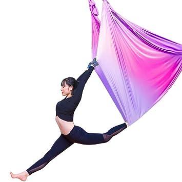 Amazon.com : CDKZK Aerial Yoga Swing with Flying Yoga Strap ...