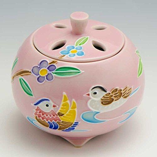 京焼 清水焼 京 焼き 京焼き 香炉 1個 木箱入 交趾おしどり(ピンク) こうちおしどり(ぴんく) YSP133 B07DGL3DPZ