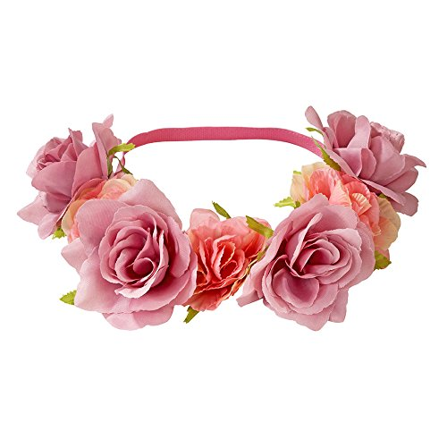 Talking Tables Flower Headband | Truly Scrumptious | Snapchat Flower Filter And Dress Up, Pink ()
