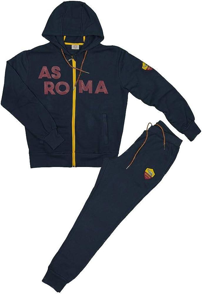 AS Roma Tuta Felpa Aperta con Zip E Cappuccio Bambino R13895 ...