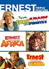 Everyone's favorite know-it-all neighbor and knucklehead! ERNEST IN THE ARMY The Army will never be the same! Our old buddy Ernest P. Worrell (Jim Varney) loves big Army trucks so he enlists in the Reserves to get a chance to drive them. Unfo...