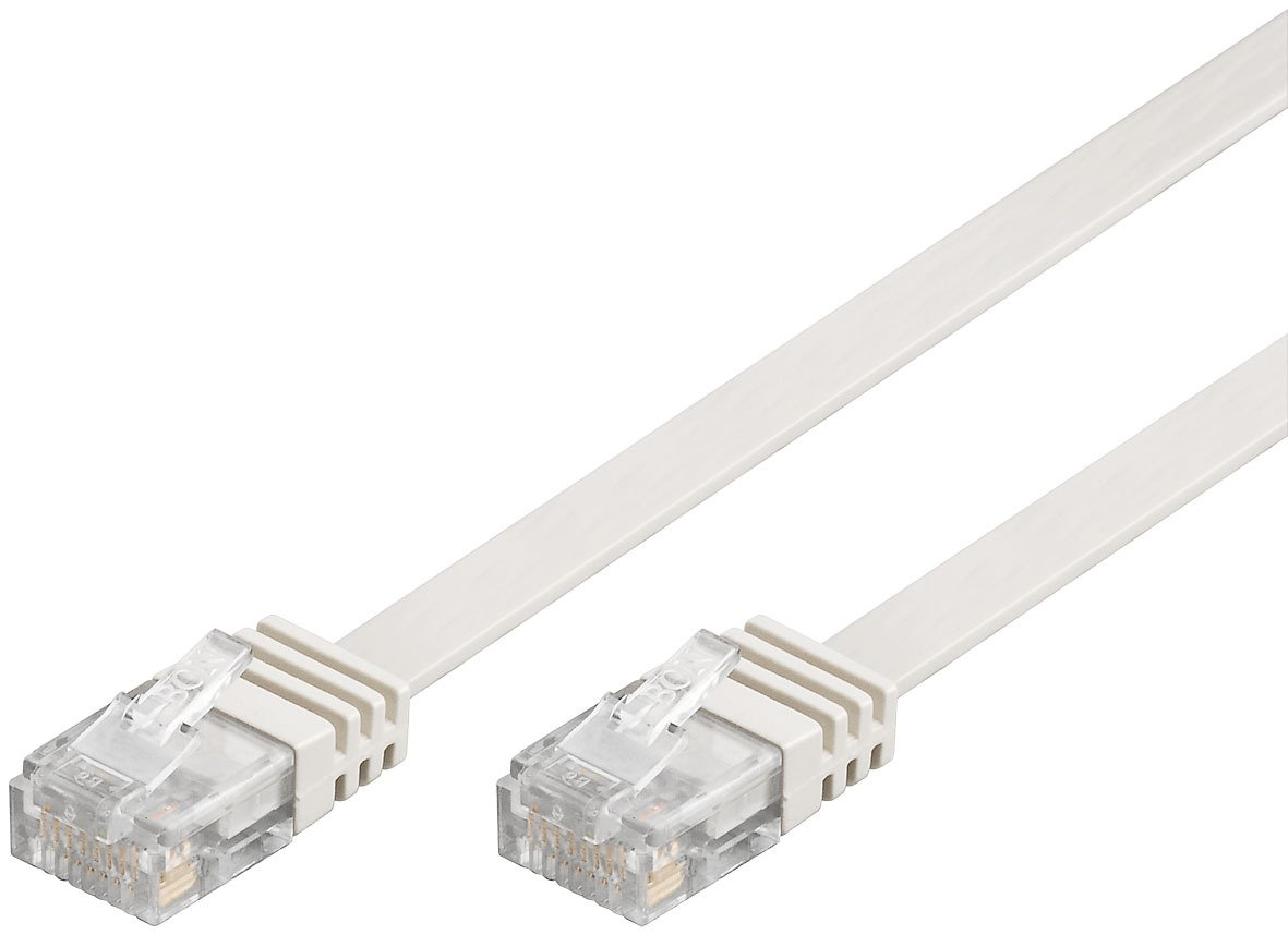 Flachkabel 20m weiß, Ethernet LAN Patchkabel: Amazon.de: Computer ...