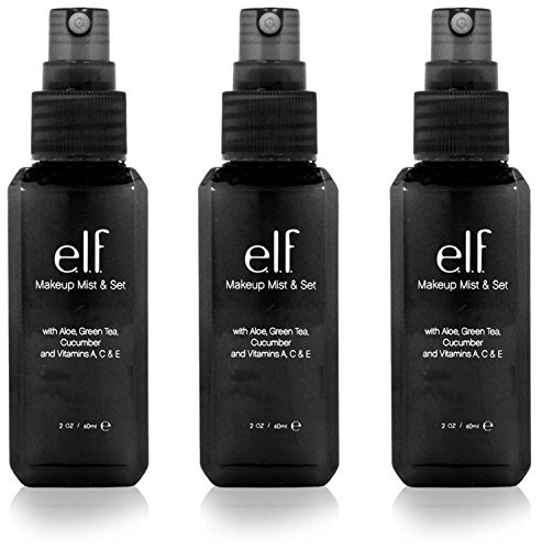 e.l.f. Makeup Mist and Set, Clear, 2.02 Ounce, 3 Pack